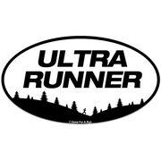 Ultra Runner Car Magnet - White