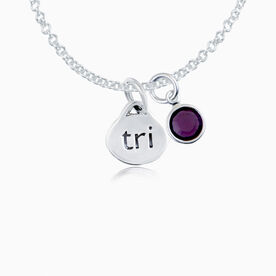Sterling Silver Oval Tri Necklace