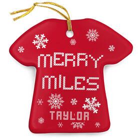 Running Porcelain Ornament Merry Miles