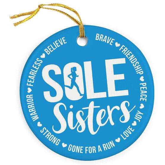 Running Porcelain Ornament - Sole Sister Words