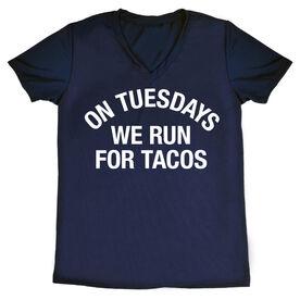 Women's Running Short Sleeve Tech Tee - On Tuesdays We Run For Tacos