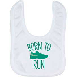 Running Baby Bib - Born To Run