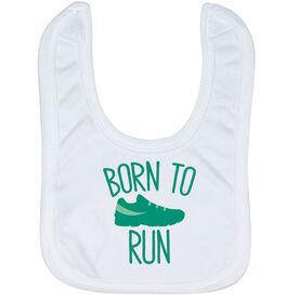 Running Baby Bib - Born To Run