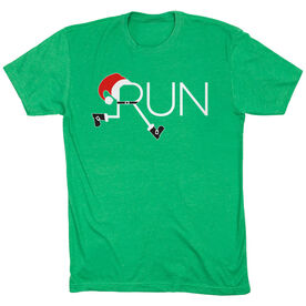Running Short Sleeve T-Shirt - Let's Run For Christmas