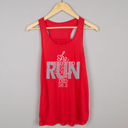 Flowy Racerback Tank Top - She Believed She Could So She Did 26.2