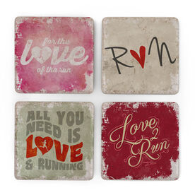Running Stone Coaster Set of 4 - Will Run For Love