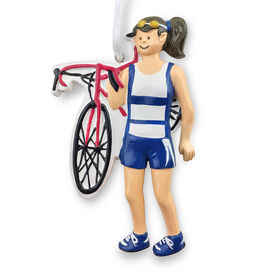 Triathlete Ornament - Female