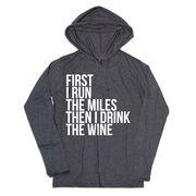 Women's Running Lightweight Hoodie - Then I Drink The Wine
