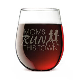 Running Stemless Wine Glass - Moms Run This Town