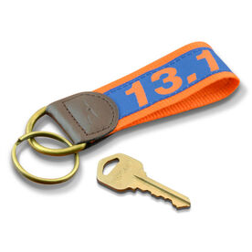 13.1 Half Marathon Runners Key Fob (Blue/Orange)