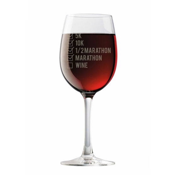 Runners Checklist Wine Glass