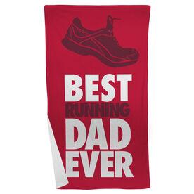 Running Beach Towel Best Dad Ever