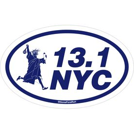 13.1 NYC Decal (Navy/White)