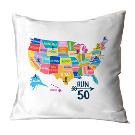 Running Throw Pillow - Run 50
