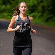 Women's Racerback Performance Tank Top - Will Run For Treats