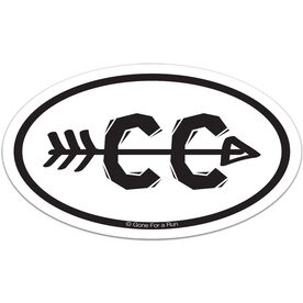 Cross Country Arrow Decal (Black/White)