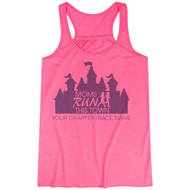 Flowy Racerback Tank Top - Moms Run This Town Magical Miles