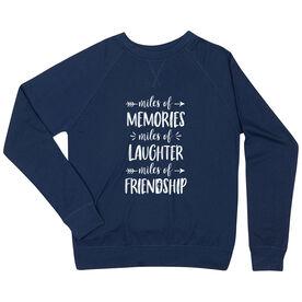 Running Raglan Crew Neck Sweatshirt - Miles of Friendship Mantra