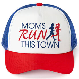 Running Trucker Hat - Moms Run This Town Logo RWB