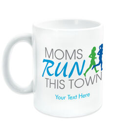 Running Coffee Mug - Moms Run This Town Logo