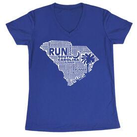 Women's Running Short Sleeve Tech Tee South Carolina State Runner