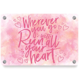 Running Metal Wall Art Panel - Wherever You Go