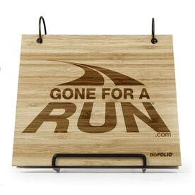 Engraved Bamboo Wood BibFOLIO® Race Bib Album - GFAR Logo