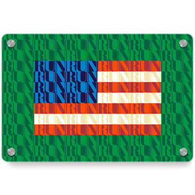 Running Metal Wall Art Panel - American Flag Mosaic