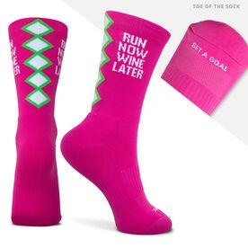 Socrates® Mid-Calf Performance Socks - Run Now Wine Later