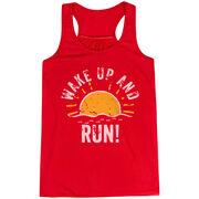 Flowy Racerback Tank Top - Wake Up And Run
