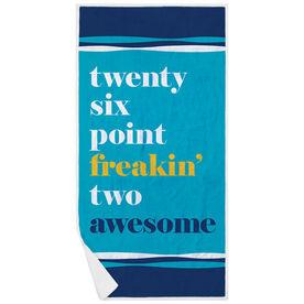 Running Premium Beach Towel - Awesome Mantra