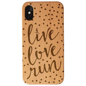 Running Engraved Wood IPhone® Case - Live Love Run