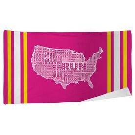 Running Beach Towel USA Runner