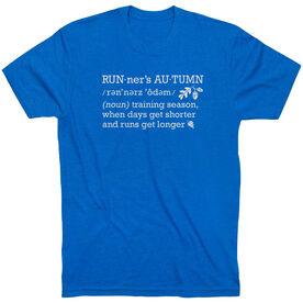 Running Short Sleeve T-Shirt - Runner's Autumn Definition