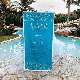 Running Premium Beach Towel - To Do List