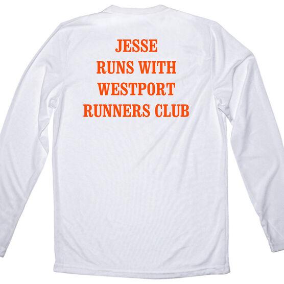 Men's Running Customized Long Sleeve Tech Tee 26.2 Math Miles