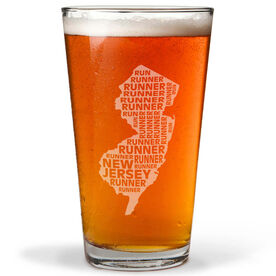 20 oz Beer Pint Glass New Jersey State Runner