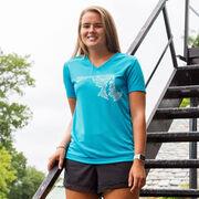 Women's Running Short Sleeve Tech Tee Maryland State Runner