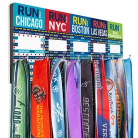 Running Hooked on Medals Hanger - Run 5 Cities Race Challenge (Dry Erase)