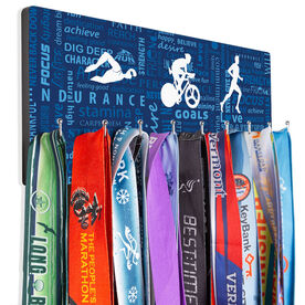 Triathlon Hooked on Medals Hanger - Tri Inspiration Male