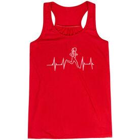 Flowy Racerback Tank Top - Heart Beat Female Runner