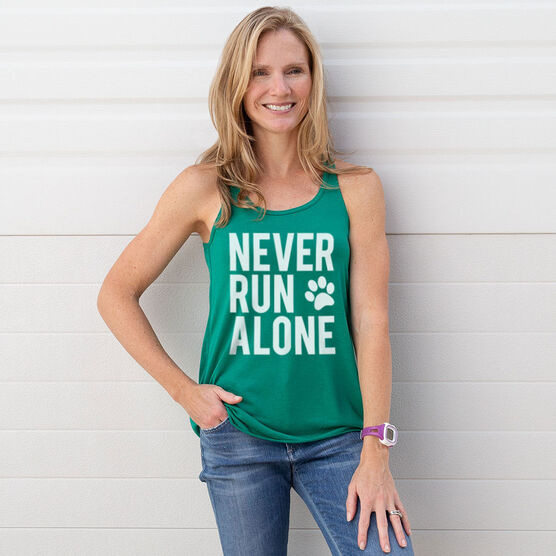 Flowy Racerback Tank Top - Never Run Alone (Bold)