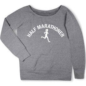 Running Fleece Wide Neck Sweatshirt - Half Marathoner Girl