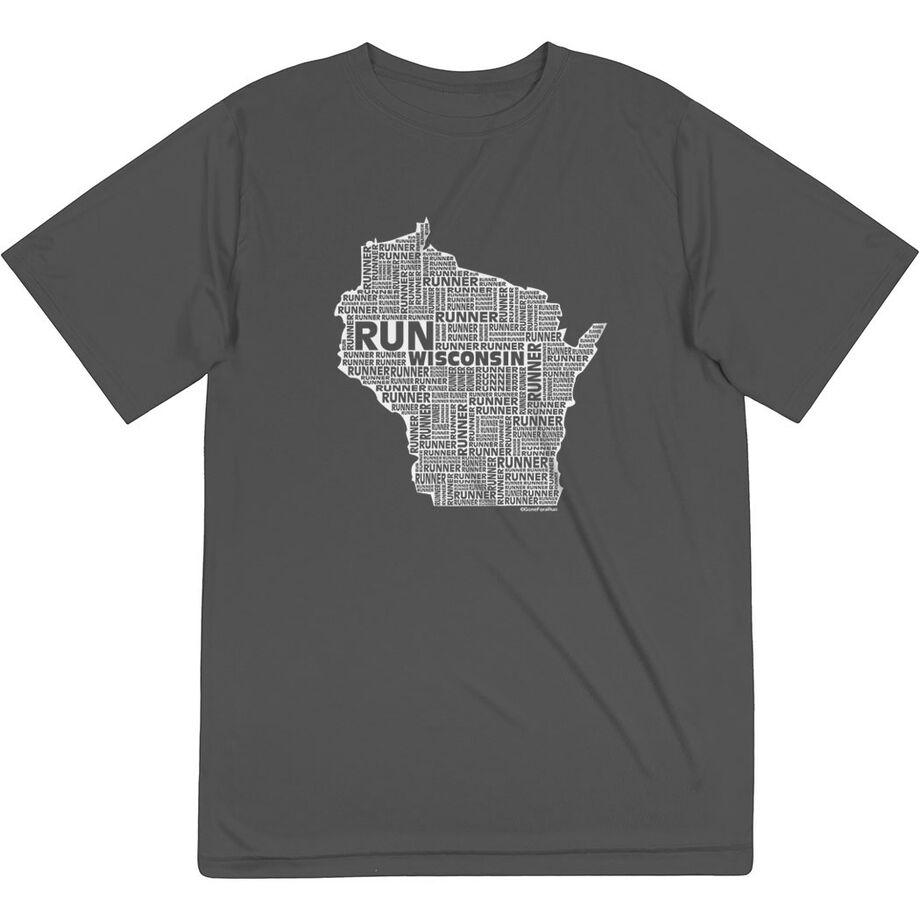 Men's Running Short Sleeve Tech Tee - Wisconsin State Runner