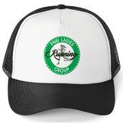Running Trucker Hat - Pacific Northwest Ladies Running Group Logo