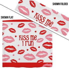 RokBAND Multi-Functional Headband - Kiss Me I Run with Lip Patttern