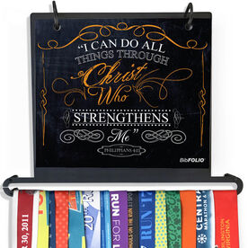 BibFOLIO Plus Race Bib and Medal Display - I Can Do All Things Through Christ Chalkboard