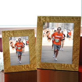 Bamboo Engraved Picture Frame 13.1 Math Miles