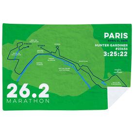 Running Premium Blanket - Personalized Paris Map
