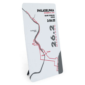 Running Desk Art - Philadelphia 26.2 Route